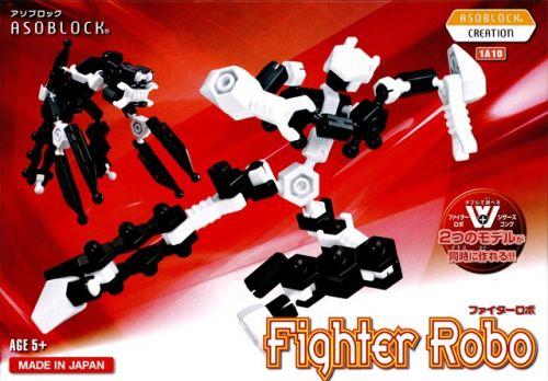 อโซบล็อค Asoblock รุ่น W 1A10 Fighter Robo หุ่นยนต์นักสู้ เสริมพัฒนาการ กล้ามเนื้อมัดเล็ก