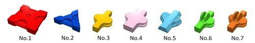 LaQ 7 parts ลาคิว ชิ้นส่วน 7 แบบ Hayashi World ตัวต่อลาคิว